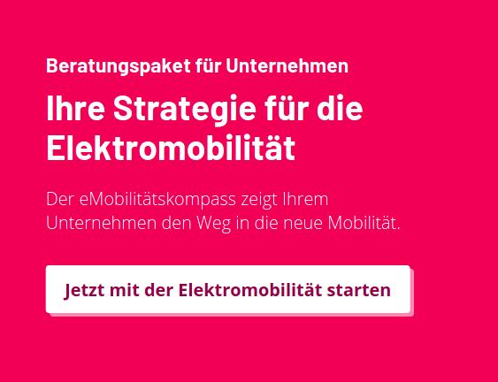 """Beratungspaket für Unternehmen: """"Ihre Strategie für die Elektromobilität"""". Der eMobilitätskompass zeigt Ihrem Unternehmen den Weg in die neue Mobilität. Jetzt mit der Elektromobilität starten!"""